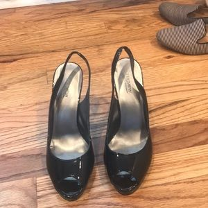 Patent Leather Black Heels Size 7